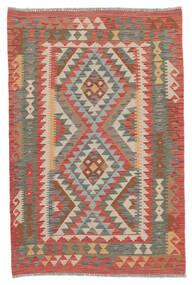 Kelim Afghan Old Style Matto 100X155 Itämainen Käsinkudottu Tummanpunainen/Tummanruskea (Villa, Afganistan)