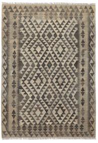 Kelim Afghan Old Style Matto 121X175 Itämainen Käsinkudottu Tummanruskea/Musta (Villa, Afganistan)