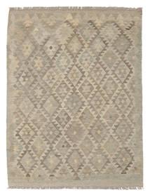 Kelim Afghan Old Style Matto 135X174 Itämainen Käsinkudottu Ruskea/Vaaleanruskea (Villa, Afganistan)