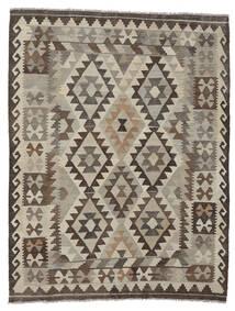 Kelim Afghan Old Style Matto 157X206 Itämainen Käsinkudottu Tummanruskea/Tummanharmaa (Villa, Afganistan)