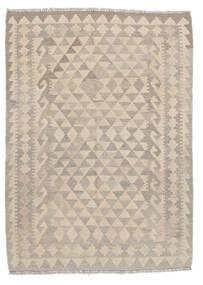 Kelim Afghan Old Style Matto 108X140 Itämainen Käsinkudottu Vaaleanruskea/Valkoinen/Creme (Villa, Afganistan)