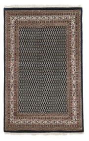 Mir Indo Matto 114X180 Itämainen Käsinsolmittu Musta/Tummanruskea (Villa, Intia)